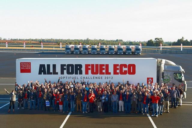 Соревнования Renault Trucks по экономичному вождению Optifuel Challenge 2012