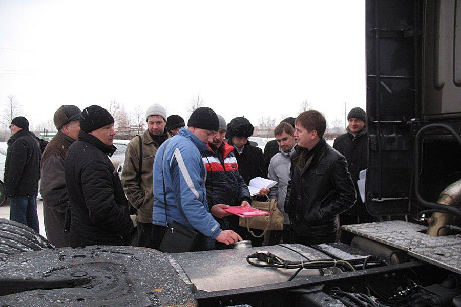 тест КАМАЗ-5490