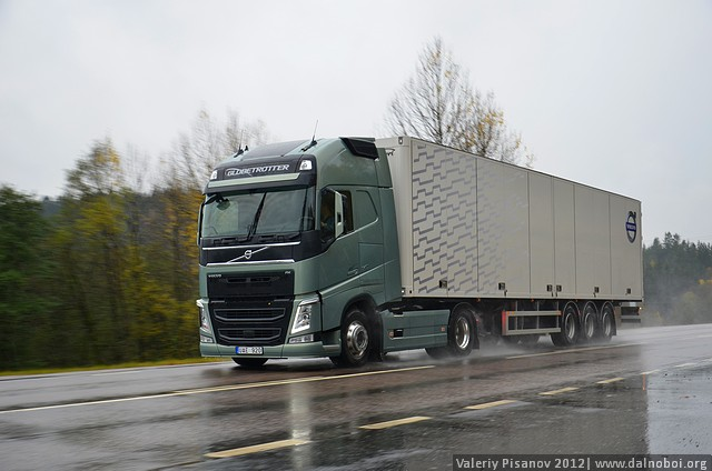 Фоторепортаж тест-драйв new Volvo FH