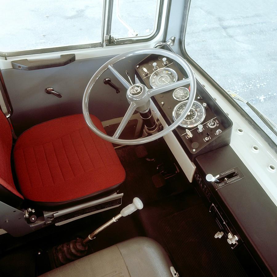 интерьер кабины Scania