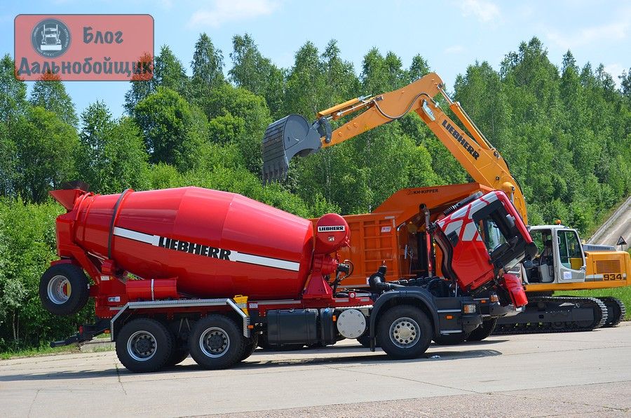 Автобетоносмеситель Scania P400 CB6x4EHZ с миксером Liebherr