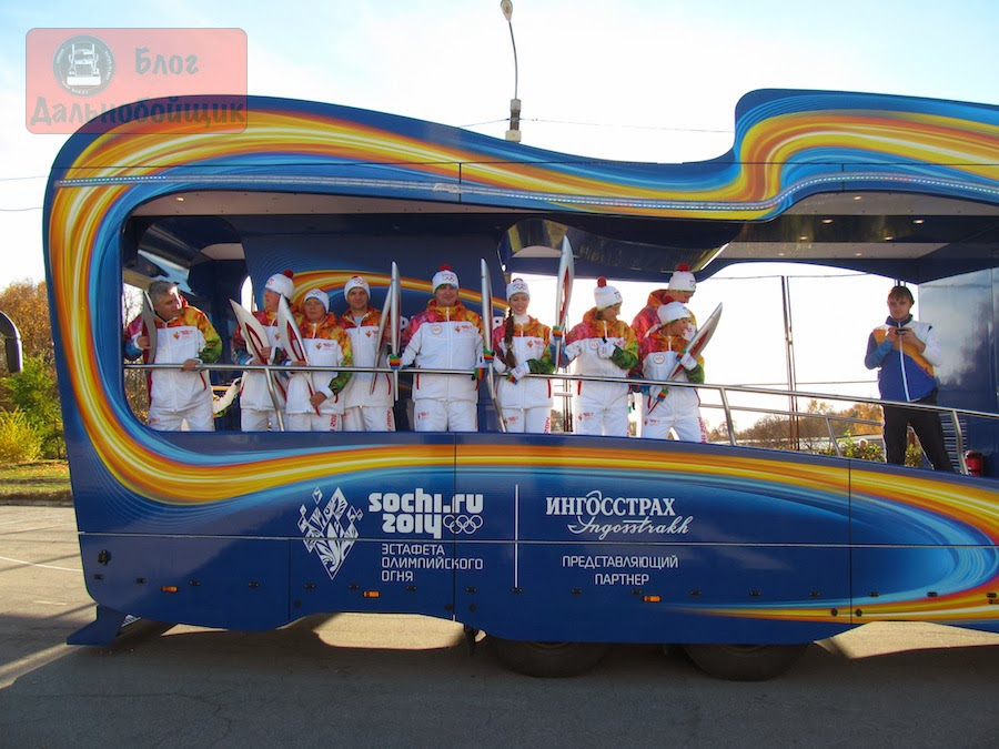 Автомобили Эстафеты Олимпийского огня