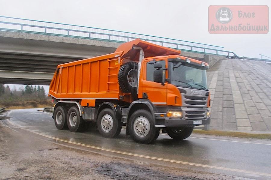 Тест-драйв: Самосвал Scania P420 CB8x4EHZ