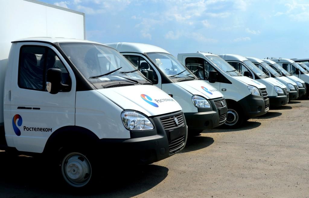 Автомобили ГАЗ готовятся к отправке в филиалы Ростелекома