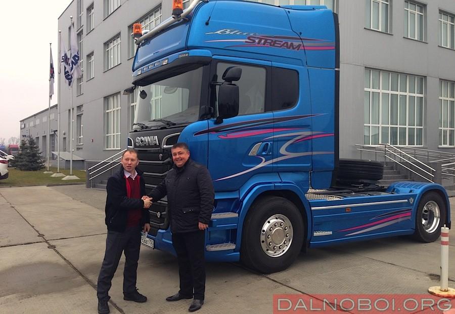 Российская прописка эксклюзивного тягача Scania Blue Stream R 620