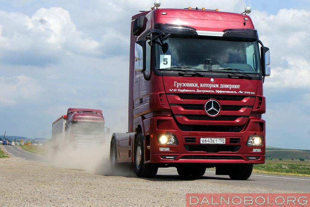 Грузовой автопробег Mecedes-Benz