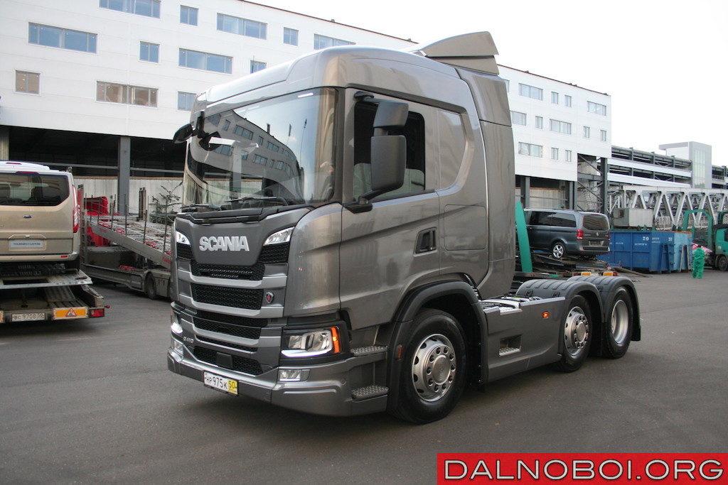 Седельный тягач нового поколения Scania G410 А6х2/4NB с поддерживающей осью