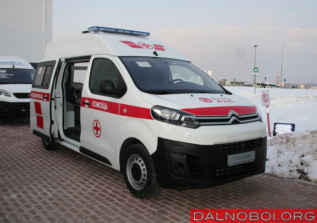 Автомобиль скорой помощи на базе Citroen Jumpy