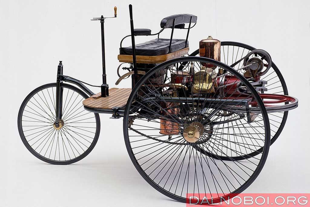 Первый автомобиль с ДВС Карл Бенца, 1886 год